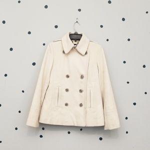 Women's Cream J.Crew Thinsulate Pea Coat - Medium